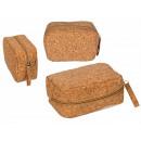 mayorista Regalos y papeleria: Estuche de corcho con cremallera, aprox.15 x 10 cm