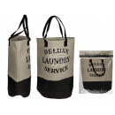 wholesale Other: Cream / Black Fabric Laundry Bag, Deluxe Laundry