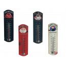 Großhandel Wetterstationen:,Metall-Thermometer  Coffee, ca. 27 x 8 cm, 4-fach