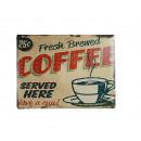 grossiste Images et cadres: Panneau en métal,  Nostalgie, Coffee, brun beige, e