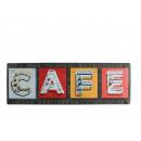 grossiste Images et cadres: Panneau en métal,  Nostalgie Cafe, env. 15 x 45 cm