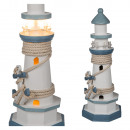 Holz-Leuchturm mit 8 warmweißen LED