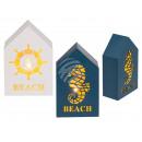 Holz-Haus, Beach, mit warmweißen LED