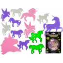 Unicorns, glow in the dark, 2 sizes, 14-teili