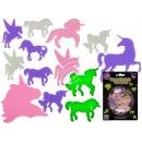 Unicorns, glow in the dark, 2 sizes, 14-teili
