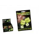wholesale Wooden Toys: Love dice Greek  version, glow in the dark, set of
