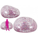 Inflatable armchair with pink gold glitter
