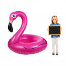 Inflatable swimming ring, flamingo, approx. 110 x