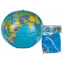 wholesale Gifts & Stationery: Inflatable ball,  world ball, approx. 30 cm