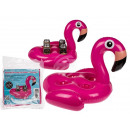 Inflatable beverage can holder, flamingo