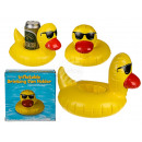 Inflatable beverage can holder, bath duck with Son