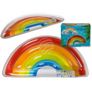 Inflatable air mattress, rainbow, about 167 x 85