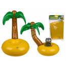 Inflatable cup holder, palm tree with island, appr