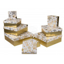 wholesale Business Equipment: White gift box with gold stars