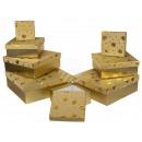 mayorista Mobiliario y accesorios oficina y comercio: Caja de regalo color dorado con diamante dorado