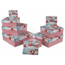 Red gift box with Christmas wishes