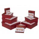 Red / white gift box, Santa Claus