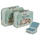 Caja de regalo, maleta, Feliz Navidad