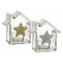 Glass candle holder, House Stern & frosted
