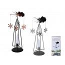 Rotating metal candle holder, snowflake, ca.