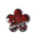 3D-Acryl-Glitterblume mit Folienblumen