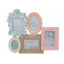 wholesale Home & Living: Plastic Frame, Pastel Retro Dreams, ca.
