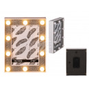wholesale Pictures & Frames: Illuminated plastic picture frame, glitter