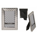 Metal picture frame, Silver Square, 10 x 15 cm