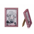 Wooden Picture Frame, Pink Glitter, 10 x 15 cm