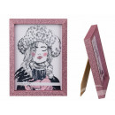 Wooden Picture Frame, Pink Glitter, 13 x 18 cm