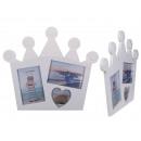 mayorista Artículos de regalo: Marco de imagen blanco, corona, aprox.37 x 33 cm
