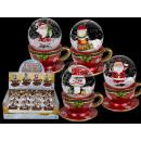 grossiste Boules de neige: Polyrésine Snow  Globe, figure de Noël dans la tass