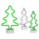 Green plastic neon light, fir tree