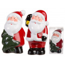 Rosso / bianco in piedi in ceramica Babbo Natale,