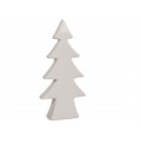 Ceramica bianca albero di Natale, 18,5 x 9 cm