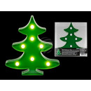 Green plastic fir tree with 7 warm white LED,
