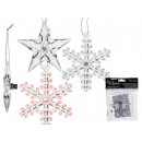 Plastic hanger, star & snowflake assorted ,