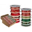 Rot/grünes Schleifenband, Weihnachten IIII, 15 mm
