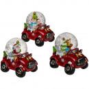nagyker Hógömbök: Hó gömb karácsonyi figurákkal egy autó alapon