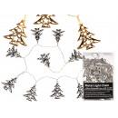 Srebrna metalowa Christmas Lights, Choinka, z