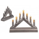 Silver-colored plastic candle arch with 7 LEDs