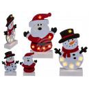 Felt figures, Santa Claus & snowman assorted