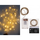 Wire Fairy Lights with 96 Warm White LED & Tim