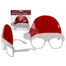 Kunststoff-Brille, Weihnachtsmütze, ca. 16 x 14 cm