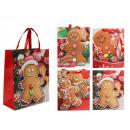 Papier cadeau zakje, Gingerbread & Glitter, ca