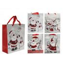 Sac de papier cadeau, le Père Noël & Glitter