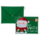 Grüne Filz-Tasche, Briefumschlag mit Nikolaus