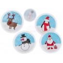 Chauffe-mains rond, Père Noël, bonhomme de neige