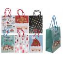 Papier-Geschenktüte, Weihnachtsmotive V
