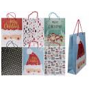 Papierowa torba prezentowa, motywy świąteczne, V